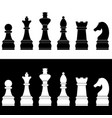set of chess icons vector image
