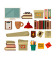 office necessary equipment flat poster on vector image vector image