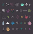 trendy geometric shapes collection vector image