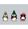 Cute penguin characters vector image