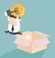Jump out of the box vector image vector image