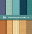 Paper seamless texture background set1 vector image vector image