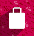 SALE shopping bag with copy space and long shadow vector image vector image