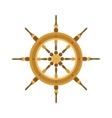 Yacht or sheep wheel rudder flat style vector image