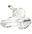 Green tank vector image