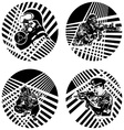 Badges with armed soldiers vector image