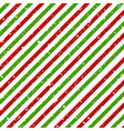 christmas diagonal striped red and green lines on vector image