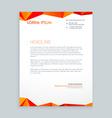 Creative modern poly letterhead design vector image