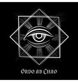 Eye of Providence masonic symbol vector image