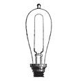 Incandescent Lamp vintage engraving vector image