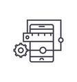 mobile application development concept thin vector image