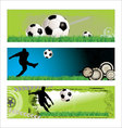 soccer grunge background set vector image
