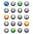 Round buttons for internet and shopping vector image vector image