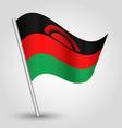 malawian flag on pole vector image