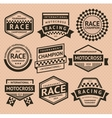 Racing insignia vector image