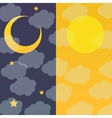 Night and Day vector image