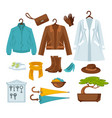 women outerwear and shoes flat poster on white vector image