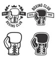 set of boxing club emblems templates isolated on vector image
