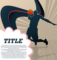sport template poster basketball vector image