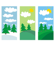 winter spring and summer landscape with trees vector image vector image