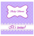 Baby-shower-with-cell-pattern-twins vector image