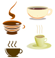 coffee cups pack vector image vector image
