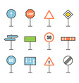 Different road sign icons collection Design vector image vector image