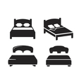 black Bed vector image
