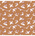 doodle seamless pattern with birds vector image
