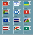 Flags set four-10 vector image