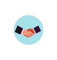 flat man handshake icon vector image