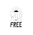 Hand drawn wild forest lettering vector image