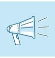 Line icon loud megaphone marketing promotion vector image
