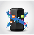 Mobile phone applications icons vector image