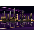 Night cityscape with lights and skyline vector image