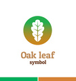 Oak leaf symbol logo Nature theme template vector image
