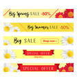 set of abstract web banner templates with floral vector image