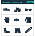 Set of modern icons Fashionable men s vector image