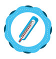 sticker thermometer medical tool revision vector image