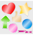 striped stickers vector image