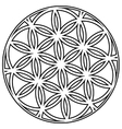 Interlocking circular flower vector image vector image