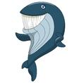 Cute whale cartoon waving vector image vector image