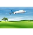 big commercial plane vector image vector image
