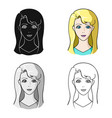 avatar girl with white hair avatar and face vector image