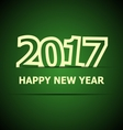 2017 Happy New Year on dark green background vector image