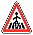 Pedestrian sign1 vector image vector image