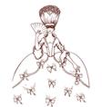 Masquerade woman vector image