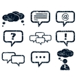 Chat icons set grunge vector image