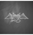 heart devil icon vector image