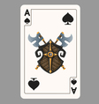 Ace of Spades playing card vector image